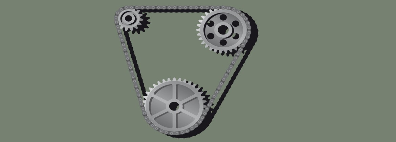 Zahnkettenrad mit Zahnkette|Als Firma LAT Antriebstechnik…